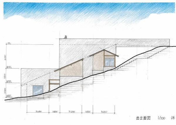 伊豆の家_西立面図_0.jpg